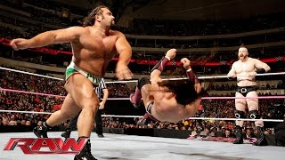 Dolph Ziggler, Cesaro & Neville  vs. Rusev, Sheamus & King Barrett: Raw, October 19, 2015