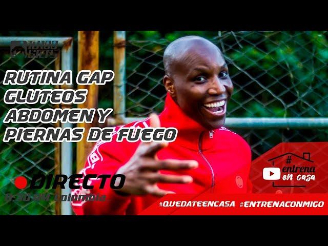 #QuedateEncasa RUTINA GAP : GLUTEOS ABDOMEN Y PIERNAS DE FUEGO #EntrenaConmigo - Fausto Murillo