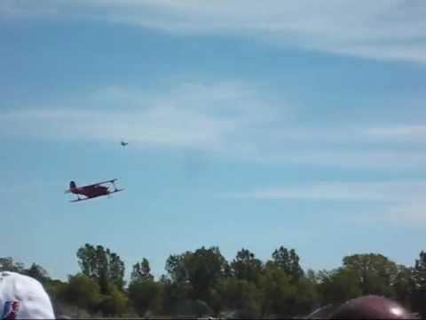 Beechcraft Model 17 Staggerwing Rexburg, ID Airshow 2012