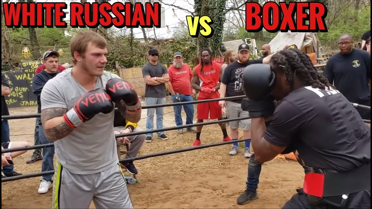 GIANT WHITE RUSSIAN vs Brutha BOXER The Big Kkkracka Suppose To Be 3-0  Wow