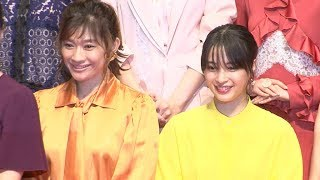 女優の篠原涼子、広瀬すずが、映画「SUNNY 強い気持ち・強い愛」の...