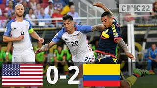 USA vs Colombia 0-2 All Goals and Highlights 2016 Copa America
