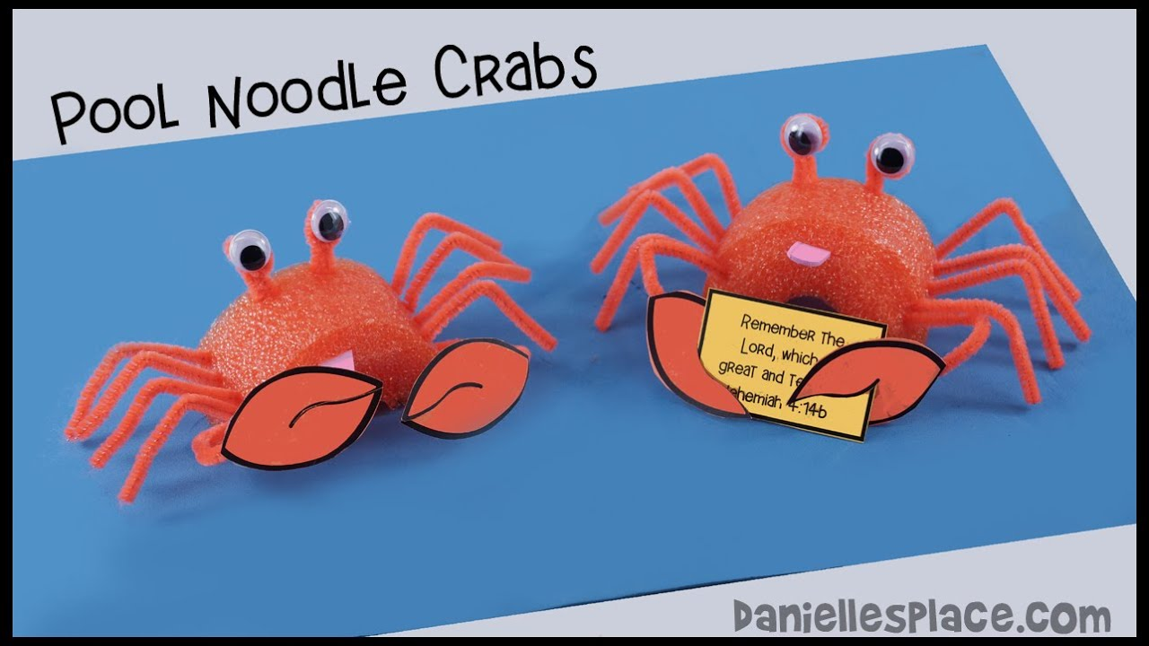 Crab Pool Noodle Craft - YouTube