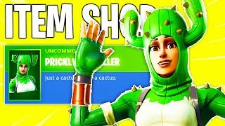New Fortnite Item Shop! NEW CACTUS SKIN! & Daily & Featured Items