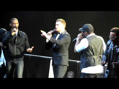 Michael Buble & Naturally 7 - I Want You Back (Acapella) - Jackson 5 Cover - O2 Arena - 1/7/13