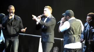 Michael Buble & Naturally 7 - I Want You Back (Acapella) - Jackson 5 Cover - O2 Arena - 1/7/13