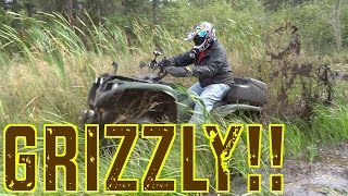 ATV VIDEO! Awesome Fall ATV Ride On The Grizzly & Kodiak - Cubbee Squashes His Leg - Sept.7, 2014