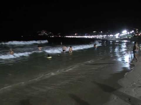 Baños de media noche en Rio de Janeiro