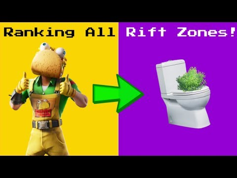 Ranking Every RIFT ZONE In Fortnite!
