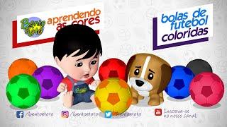 NOVO! Aprendendo as cores com Bolas de Futebol, Bento e Totó (Vídeos Educativos)
