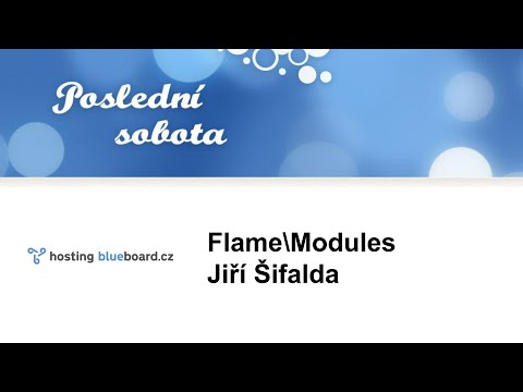 Jiří Šifalda: Flame\Modules