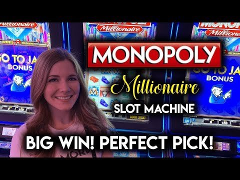 PERFECT TIMING! Picked The 10X For A BIG WIN! Monopoly Millionaire Slot Machine!