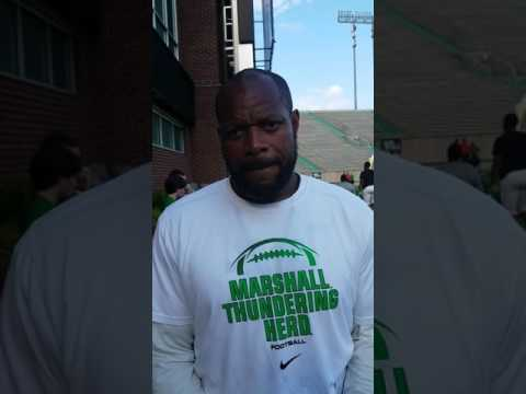 HerdNation.com interview with Marshall defensive ends coach Cornell Brown