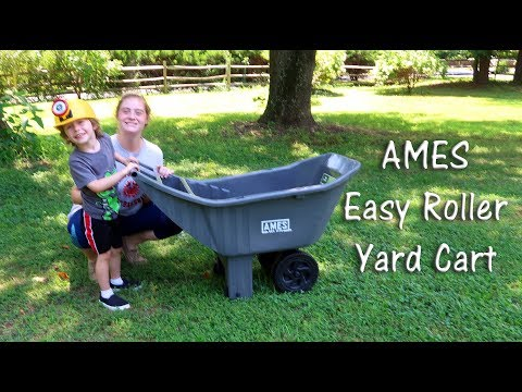 🍀AMES EASY ROLLER POLY YARD CART🌼 Wheelbarrow 2463875 Review Unboxing 👈