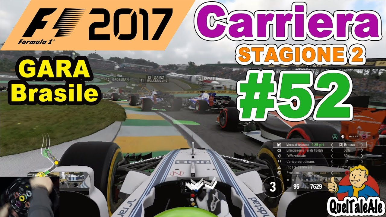 f1 2017 ps4 gameplay ita t300 carriera 52 gara. Black Bedroom Furniture Sets. Home Design Ideas