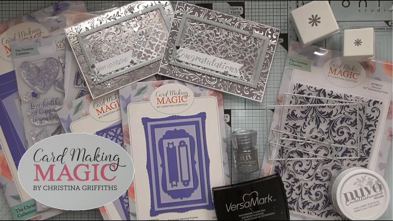 Stamps /& Embossing folder Magazine Issue 7 Tonic Studios Cardmaking Kit Dies