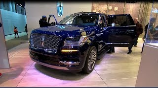 LINCOLN NAVIGATOR L MODEL 2018 BLUE COLOUR WALKAROUND + INTERIOR