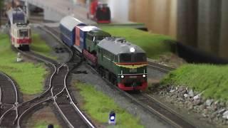 Огромный действующий макет железной дороги на Train Hobby Days 2019