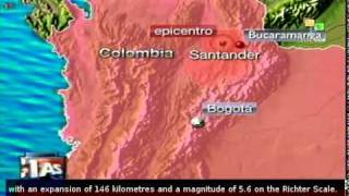 5.6 earthquake in Colombia, no victims reported