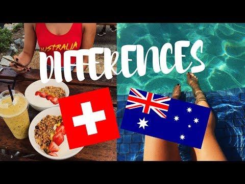 DIFFÉRENCES SUISSE VS AUSTRALIE