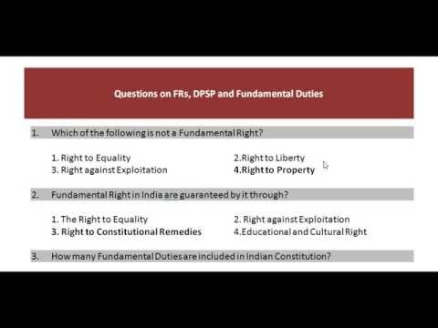 SSC CGL Polity  Questions on  Fundamental  Rights,  Duties  and  DPSP  by  We Focus Classes