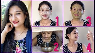 How to get clean & clear skin naturally in Hindi   Remove Pimples & Wrinkles Using Green Tea Facial