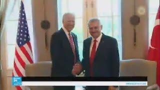 تركيا: جو بايدن يلتقي رئيس الوزراء التركي