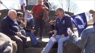 Brian Shaw presenting Public Rally in  ballarat sovereign hill part 2