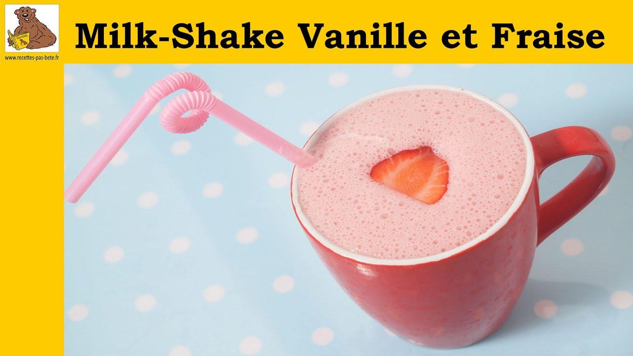 Exceptionnel milk shake vanille et fraise (recette rapide et facile) - YouTube HJ77