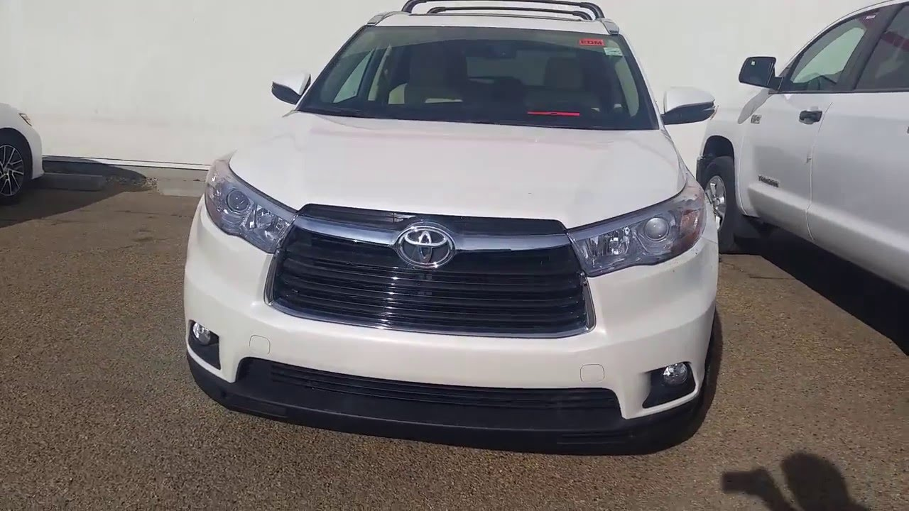 2016 Toyota Highlander Limited Blizzard Pearl With Beige Interior Review And Detailed Features