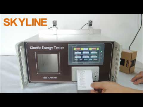 Toys Testing Equipment  Touch Screen Kinetic Energy Tester With Printer