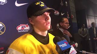 1/5/2018: Ramsus Dahlin post-game interview (2018 WJC gold medal game)