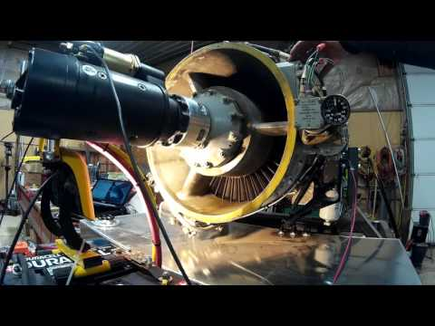 Dry Motoring test of Rolls Royce Viper Jet Engine