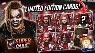 LIMITED EDITION WWE 2K20 CARDS REVEALED!! SECRET BONUS CARD?! | WWE SuperCard
