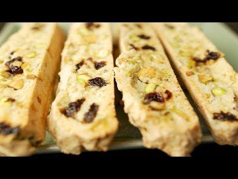 Cranberry Pistachio Biscotti Recipe Demonstration - Joyofbaking.com