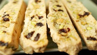 Cranberry Pistachio Biscotti Recipe Demonstration - Joyofbaking.com
