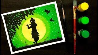 Janmashtami Special | Krishna Painting with Poster Colours | Janmashtami Drawing