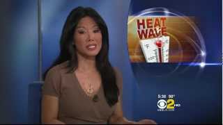 Sharon Tay 2012/08/08 CBSLA/KCAL9 HD; Brown dress