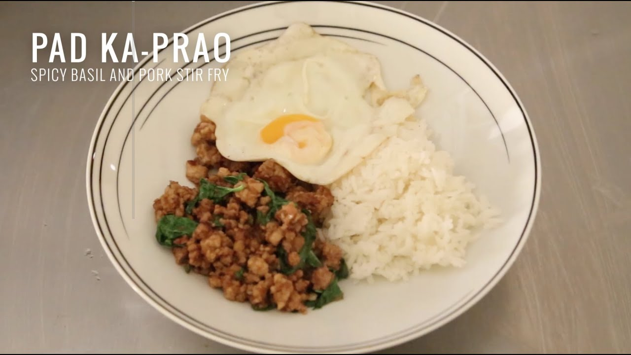 Pad Ka-Prao - Spicy Thai Basil Stir Fry - YouTube