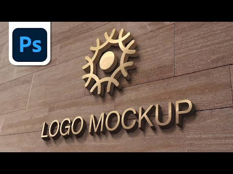 How to present your logo with mockup. Adobe photoshop tutorial