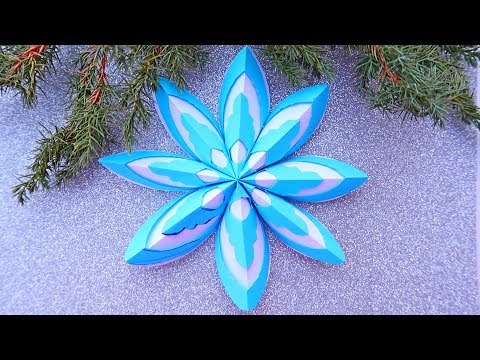 3D Snowflake - Paper snowflake - How to Make 3D Paper Snowflakes for Christmas decorations 2020