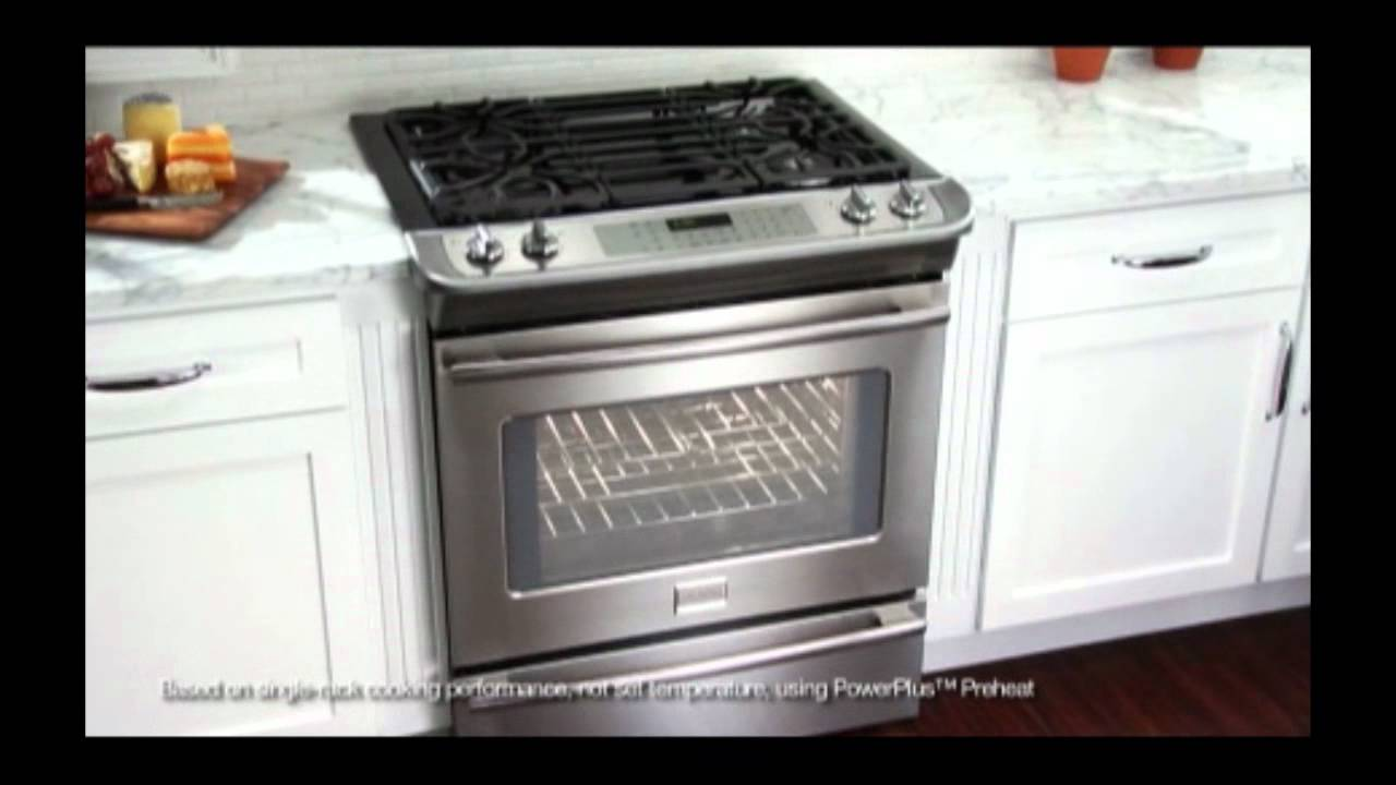 fpgf3685ls frigidaire slidein gas range promotional video from plesserscom youtube - Frigidaire Gallery Gas Range
