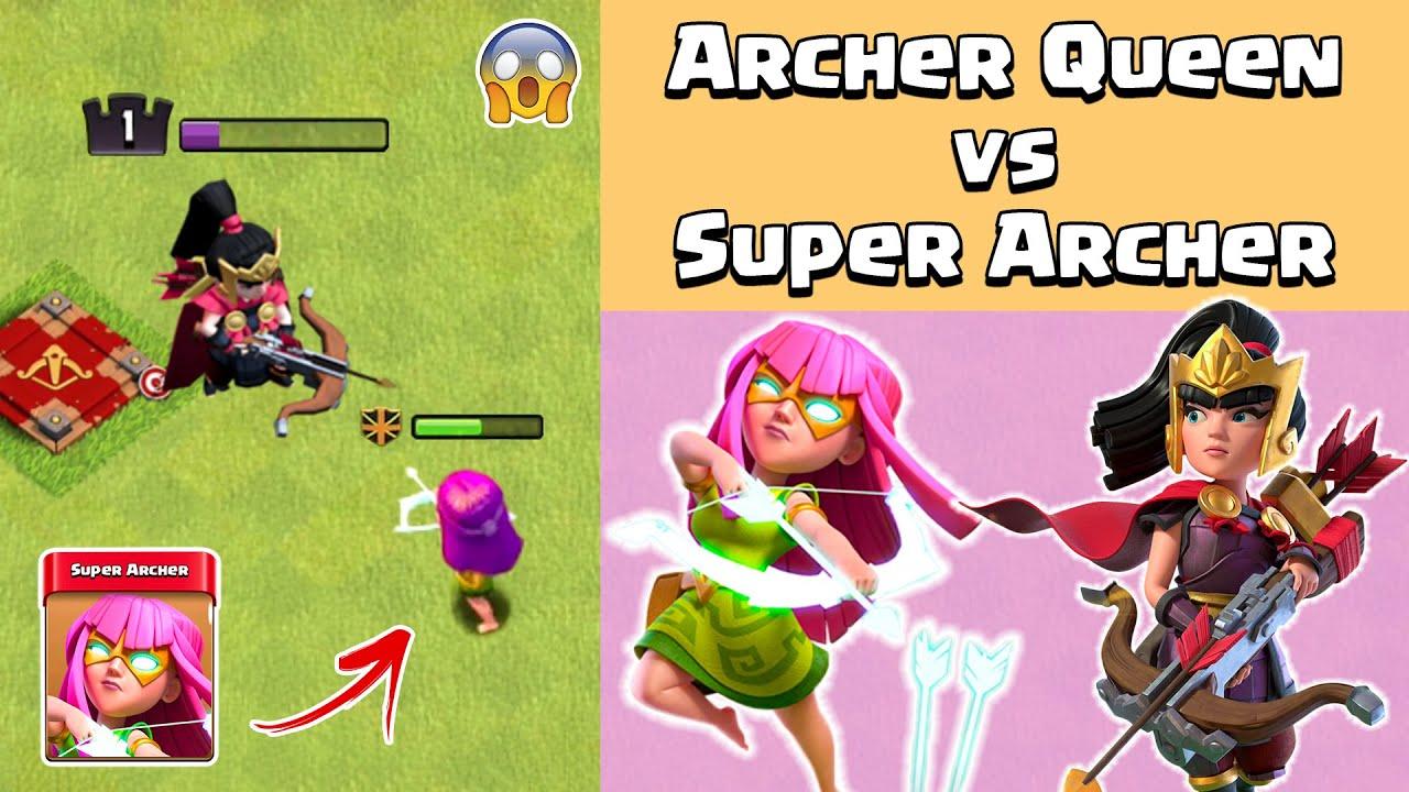 Archer Queen Vs Super Archer COC   Super Archer Vs Archer Queen Clash of Clans Gameplay