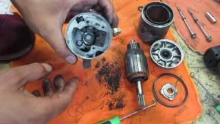 【音声解説付き】セルモーターの分解と清掃作業(回転不良)