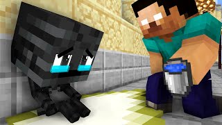 Monster School : Poor Wither Skeleton Baby Life - Minecraft Animation