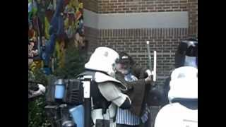 Obi Wan Wigmaster from WPLR vs. Darth Vader at ComiCONN on 8/18/12 in Trumbull,CT