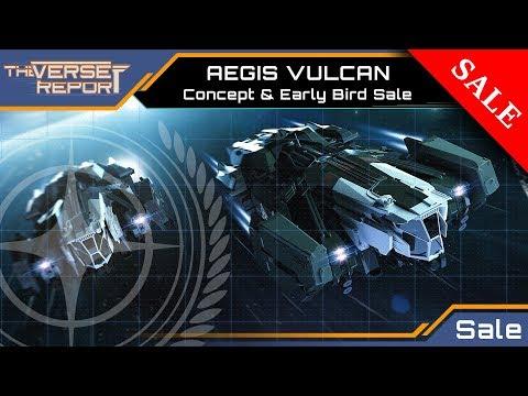 Star Citizen AEGIS VULCAN - Concept & Early Bird Sale | VerseReport [Deutsch/German]