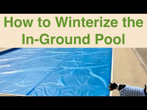 Winterizing The In Ground Pool Youtube