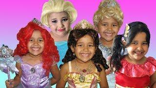 Disney Princess Ariel Belle Elsa and Aurora   Halloween Costumes and Jewelry