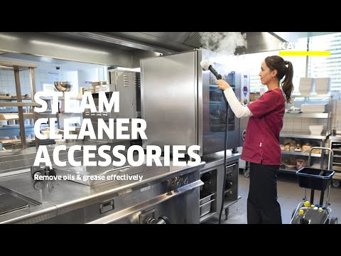 Karcher SG 4/4 Steam Cleaner and SGV Steam Vacuum Cleaner with different accessories